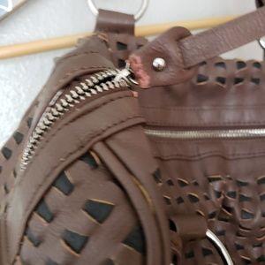 Big Buddha Bags - Big Buddha Faux Leather Woven Crossbody Satchel